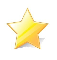 Star favorite icon vector
