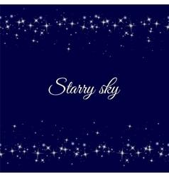 Starry frame on dark blue background vector