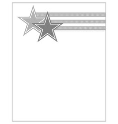 stars and stripes us flag symbol frame vector image