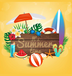 summer background 2018 4 vector image