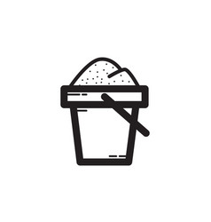 Thin line sand bucket icon vector