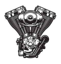 vintage motorcycle engine template vector image