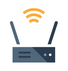 Wireless router flat vector