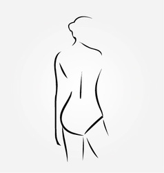 Woman wearing lingerie or swimsuit vector image