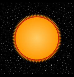 Yellow star on cosmic background vector