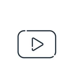 Youtube icon youtube editable stroke youtube vector