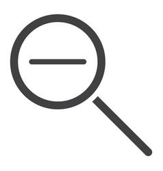zoom out glyph icon web and mobile magnifying vector image