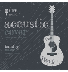 Acoustic cover vector image