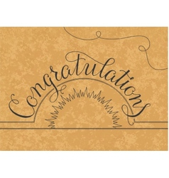 Congratulations lettering hand written design on a vector image