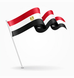 egyptian pin wavy flag vector image vector image