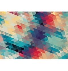 flat design geometric retro colorful background vector image vector image