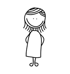 pregnancy mother character isolated icon vector image