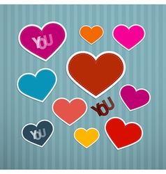 Retro Hearts Background vector image