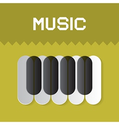Abstract Music Keyboard Symbol on Green Background vector image
