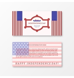 Happy independence day card United States of vector image