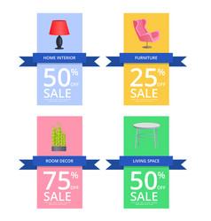 home interior furniture sale vector image