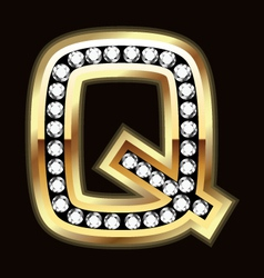 q bling vector image vector image