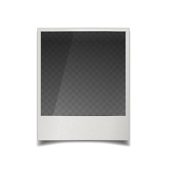 Realistic instant film photo frame with vector image