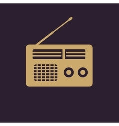 The receiver icon Radio symbol Flat vector image vector image