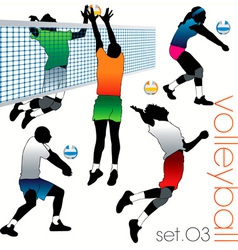 volleyball players set03 vector image vector image