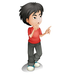 A thinking boy vector image vector image
