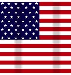 a waving flag of the USA vector image