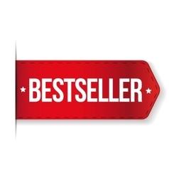 Bestseller red ribbon vector image vector image