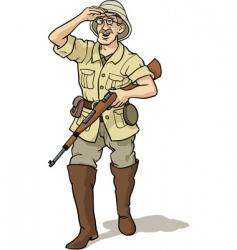 Explorer and hunter vector