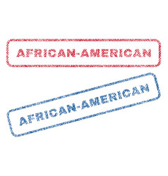 african-american textile stamps vector image vector image
