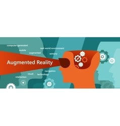 AR augmented reality concept had vector image