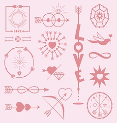 Elements for romantic designs vector