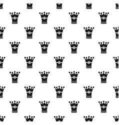 medieval crown pattern vector image vector image