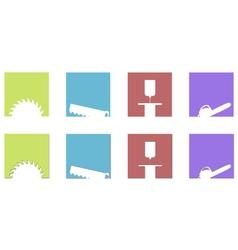 sawing mill logos and symbols vector image vector image