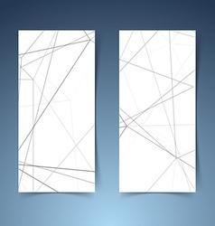 Abstract modern geometrical hi-tech banner set vector image