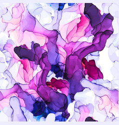 alcohol ink purple and pink shades seamless vector image