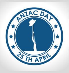 Anzac day 25th april logo vector
