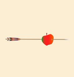 apple and arrow vector image