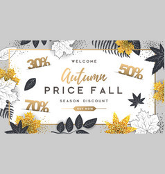 Autumn big sale typography poster vector