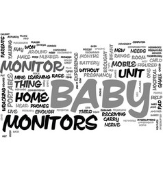 baby monitor technology text word cloud concept vector image