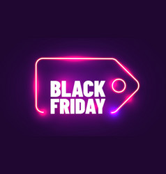 black friday realistic neon sign for decoration vector image