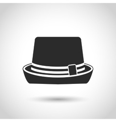 Black hat icon vector