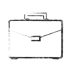 Blurred silhouette image executive briefcase with vector