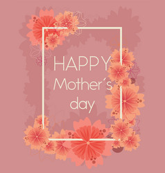 bright floral background for 8 march mother s day vector image