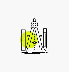 Build design geometry math tool line icon vector
