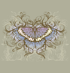 butterfly hand drawing vector image