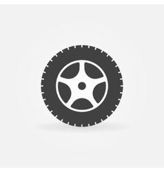 Car wheel icon or logo vector