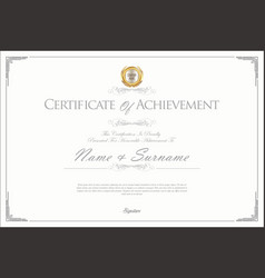 Certificate or diploma retro design template 3 vector