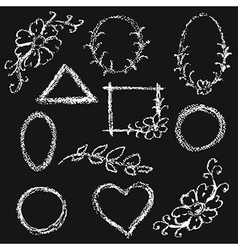 Chalk frames vector