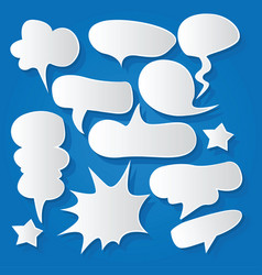 Comic bubble speech balloons speech cartoon 201 vector