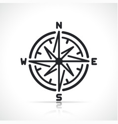 compass rose line sign icon vector image